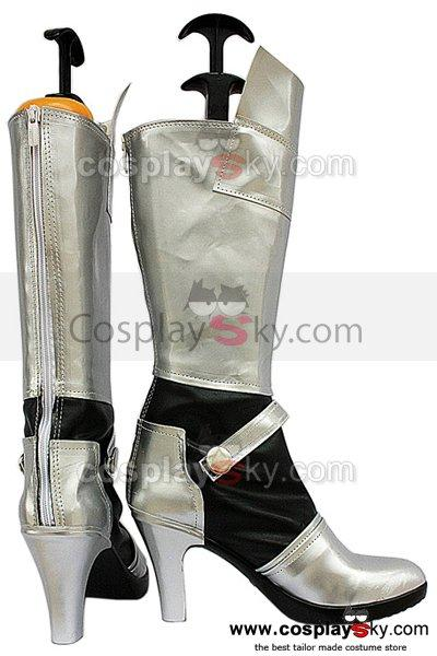 Fate Stay Night Saber Cosplay Boots Silver