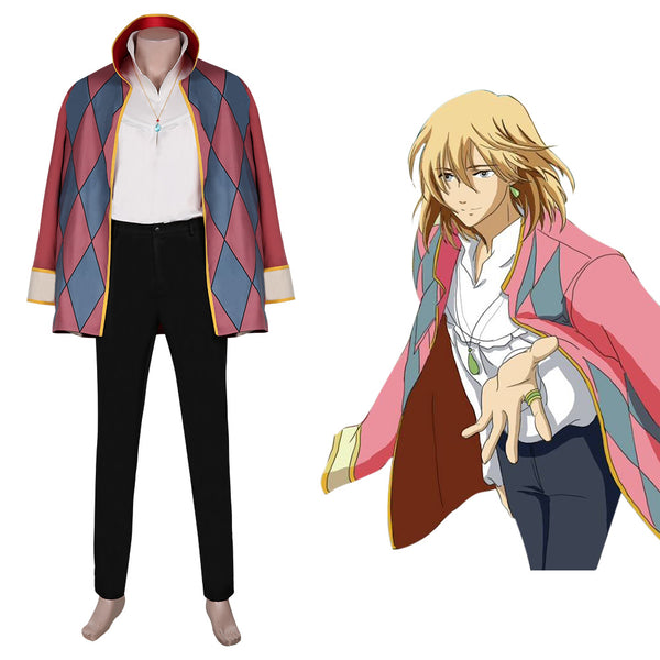 Howl Cloak Outfits Halloween Carnival Suit Movie Howl's Moving Castle Cosplay Costume