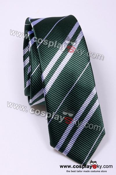 Harry Potter Slytherin Green & Silver Tie Vintage Silk
