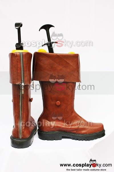 Final Fantasy 7 Cloud Cosplay Boots Brown