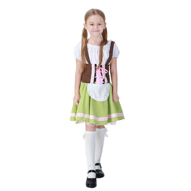 German Beer Festival Oktoberfest Girls Kids Dress Cosplay Costume