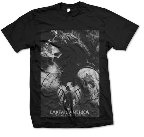 Captain America The Winter Soldier Bucky Barnes Tee T-shirt
