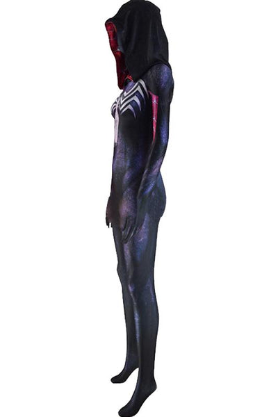 Spider-Gwen Gwen Stacy Body Suit Jumpsuit Cosplay Female Halloween Outfit Grey