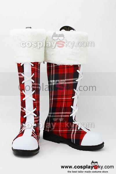 LoveLive! Boots Cosplay Shoes Christmas Version B