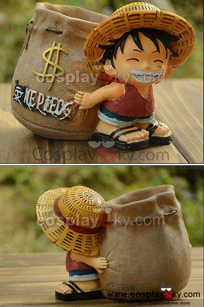 One Piece Monkey D Luffy Pen Container Pencil Vase