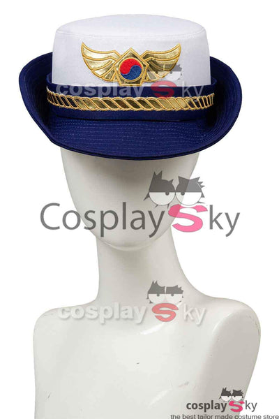 Overwatch D.VA DVA Hana Song Police Officer Uniform Cosplay Costume