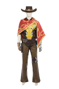 Overwatch OW Bounty Hunter Jesse McCree Outfit Cosplay Costume