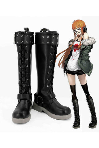 Persona 5 Futaba Sakura Boots Cosplay Shoes