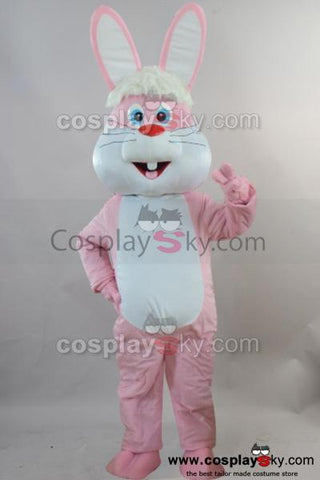 Pink Rabbit Bunny Mascot Costume Adult Size