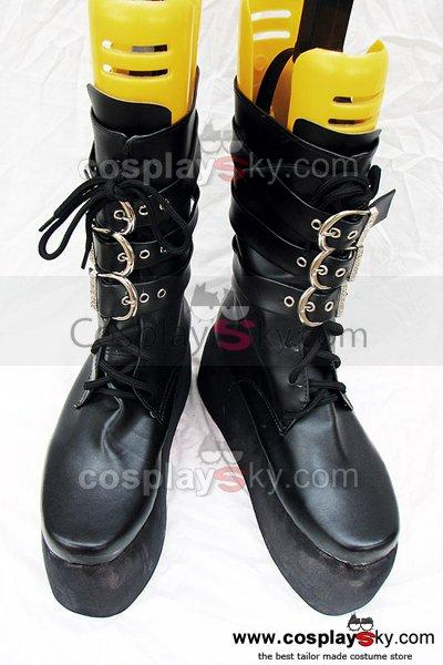 Punk heavy-bottomed black buckle boots Custom-Made