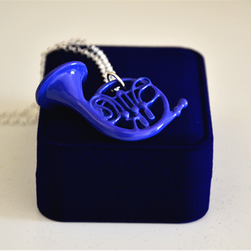 How I Met Your Mother HIMYM Blue french Horn Necklace Pendant
