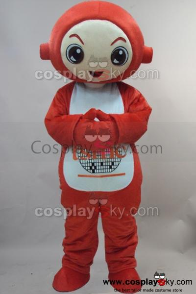 Red Teletubby Po Mascot Cosplay Costume Adult Size