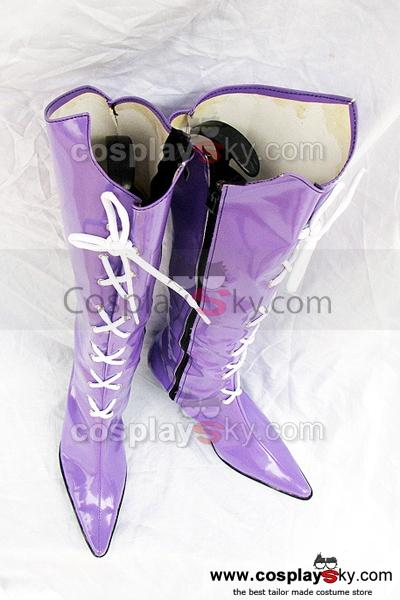Sailor Moon Tomoe Hotaru Cosplay Boots Shoes Purple
