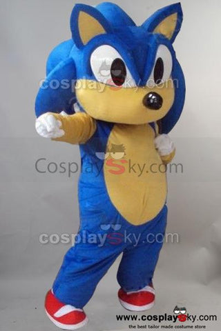 Sonic Hedgehog Mascot Costume Fancy Dress Outfit