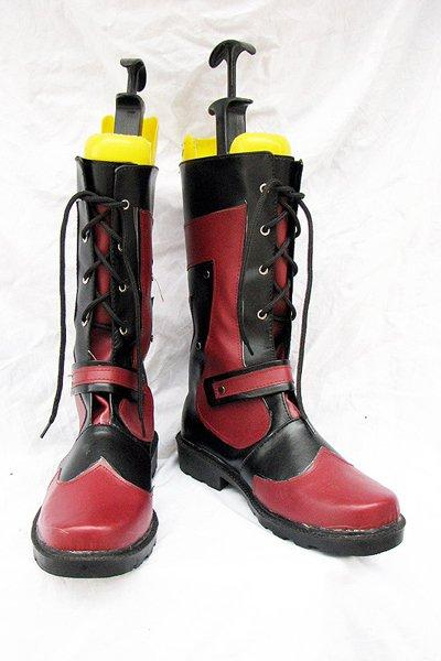 Tales of the Abyss Luke fone Fabre Cosplay Boots Red