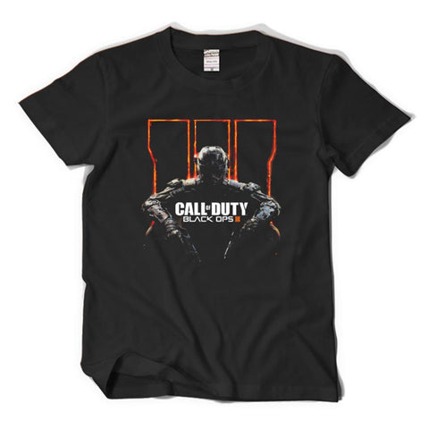Call of Duty : Black Ops 3 Black Cotton Short T-Shirt Costume
