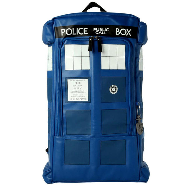 Doctor Who Traveling Bag Blue Backpack Cosplay Accessories