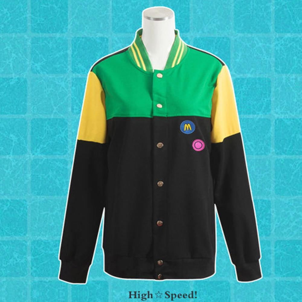 Ya-cos Free! Iwatobi Swim Club Makoto Tachibana Iwatobi High School Uniform Cosplay Costume