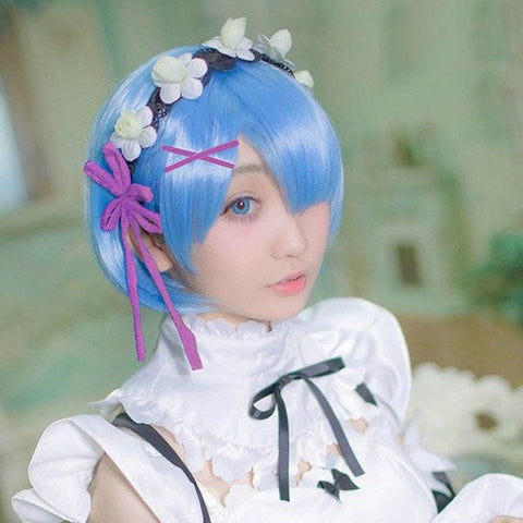 Re:Zero Life in a Different World from Zero Rem Cosplay Wigs