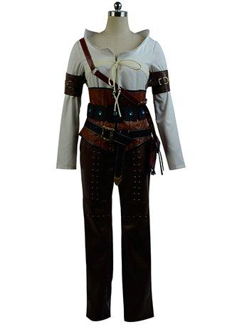 The Witcher 3 Wild Hunt Ciri Cirilla Fiona Elen Cosplay Costume