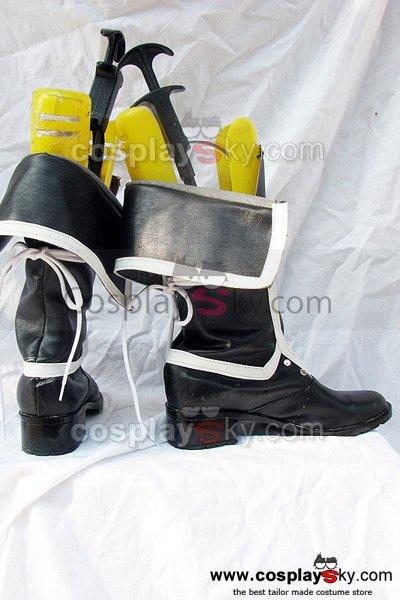 Togainu no Chi GanJi Cosplay Boots Shoes Black