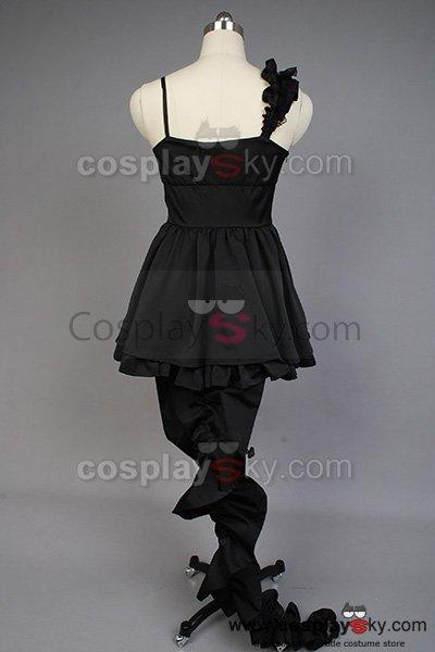 Vocaloid Deep Sea Girl Miku Black Lace Dress Costume