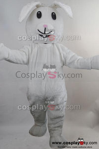 white Rabbit Mascot Costume Fancy Dress cartoon