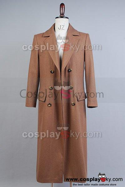 Doctor Who Dr. Brown Long Trench Coat Costume Wool Version