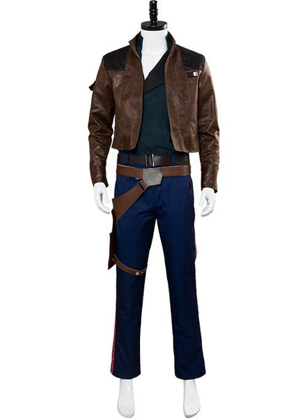Solo: A Star Wars Story Han Solo Outfit Jacket Suit Cosplay Costume