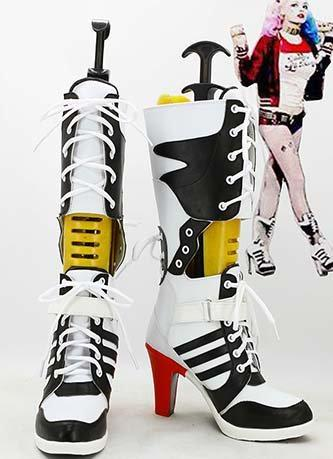 Suicide Squad Harley Quinn Boots High Heel Shoes Cosplay Outfit