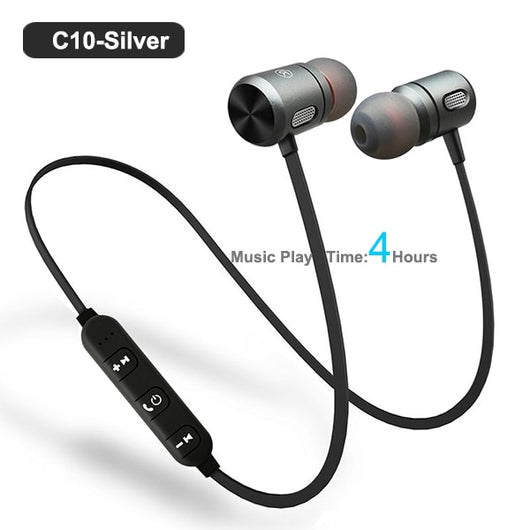Sport Bluetooth Headset Earbuds Magnetic Earpiece with Microphone for phone