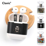 Hip hop graffiti skull cartoon sticker for apple airpods
