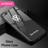 BMW Luxury glass phone iphone case