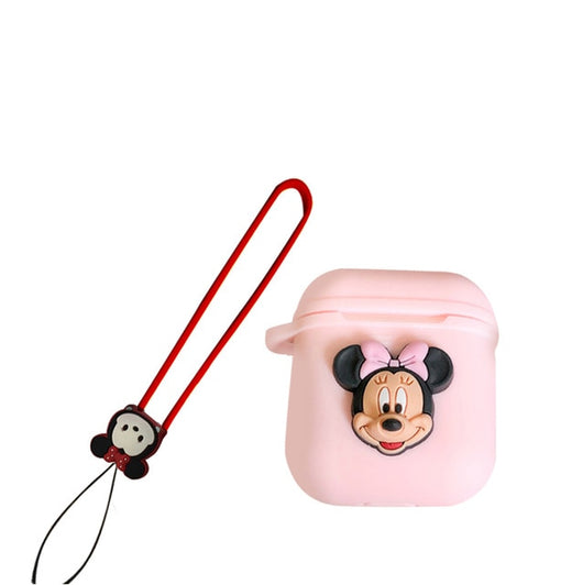 Cartoon Mickey and Minnie Soft Silicone Case For Apple Airpods