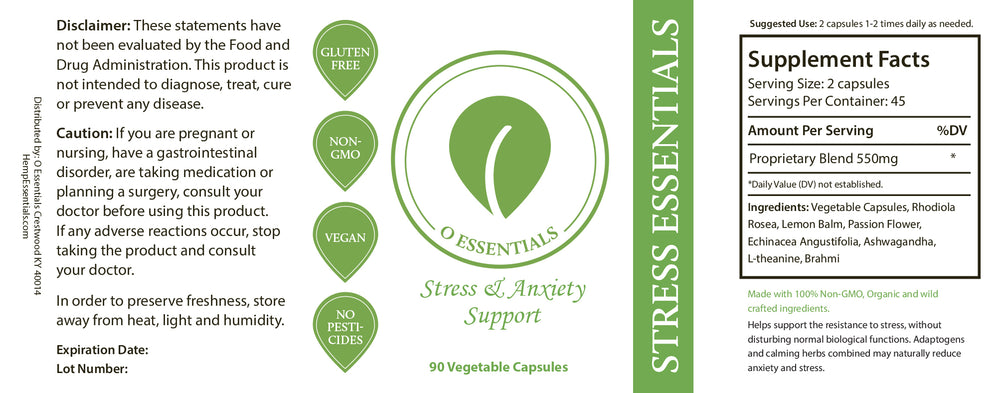 stress anxiety support supplement