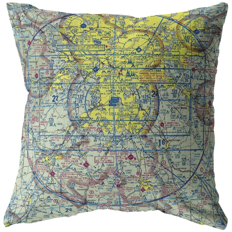 Throw Pillow | Atlanta, Georgia VFR Sectional