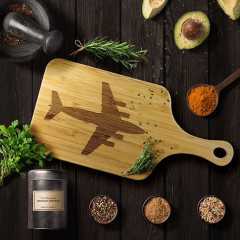 Image of Premium Bamboo Cutting Board | C-17 Silhouette