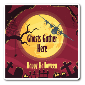 "Sticker | Halloween ""Ghosts Gather Here"" AC-130 Sticker"