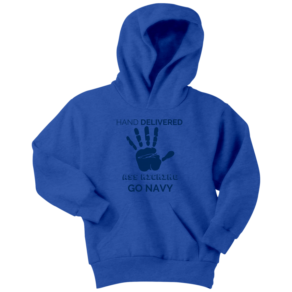 "Go Navy - ""Hand Delivered"" Youth Hoodie"
