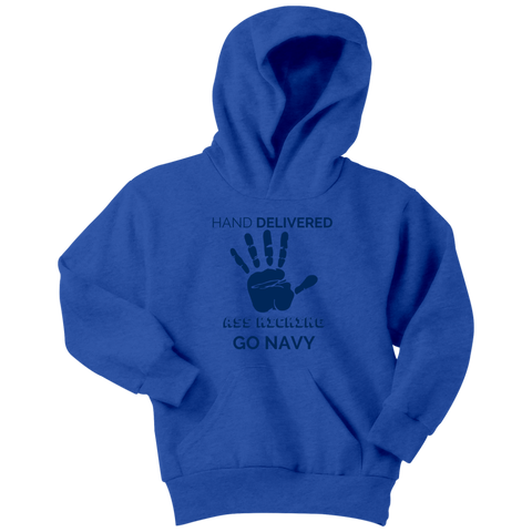 "Image of Go Navy - ""Hand Delivered"" Youth Hoodie"