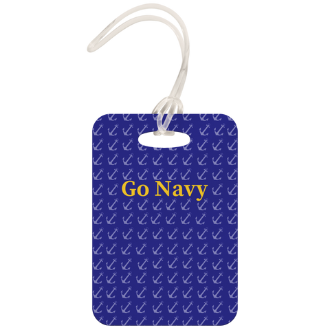 "Image of Luggage Tag - ""GO NAVY"" Game Day Tag"