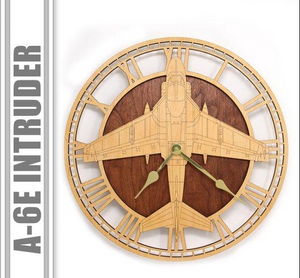 Wall Art | Wall Clock - A-6E Intruder Wooden Wall Clock