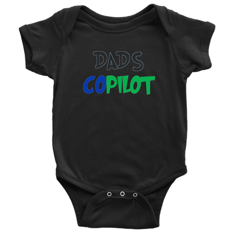 Image of Dad's CoPilot- Baby Bodysuit