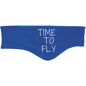 "Port Authority Fleece Headband | ""Time to Fly"""