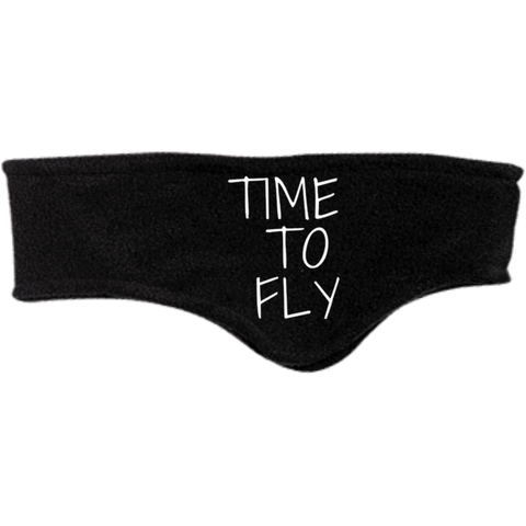 "Image of Port Authority Fleece Headband | ""Time to Fly"""