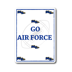 "Sticker | ""Go Air Force"" - Football"
