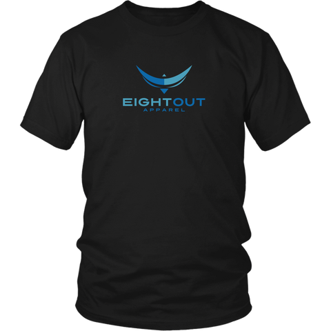 EightOut Apparel Center Logo - T-Shirt