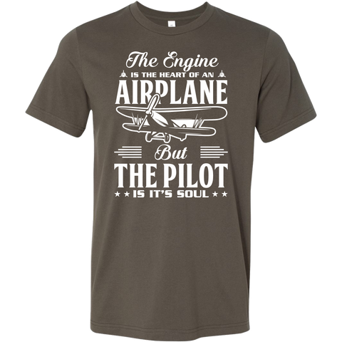 The Pilot is it's Soul - EightOut Apparel Men's Short Sleeve Shirt