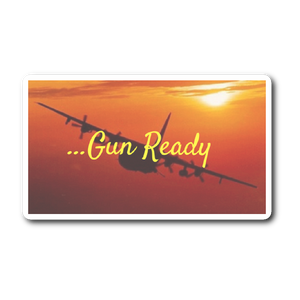 "Sticker | ""Gun Ready"" AC-130 Sticker"