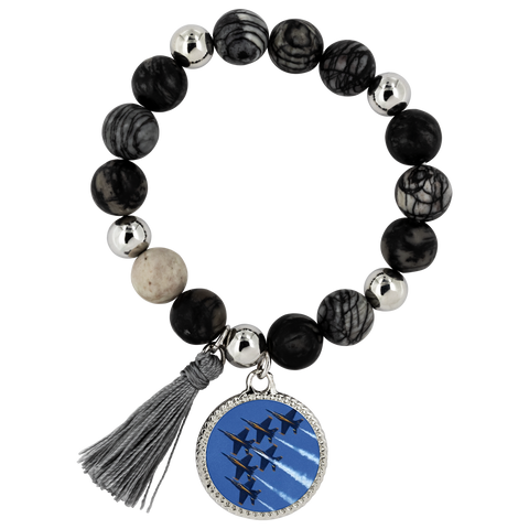Image of Blue Angels Lyric Bracelet